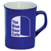 10 oz. Blue Ceramic Rounded Corner Mug