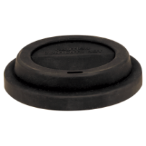 Black Flexible Silicone Latte Lid