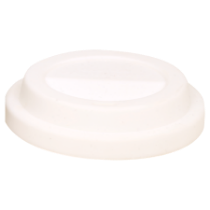 White Flexible Silicone Latte Lid