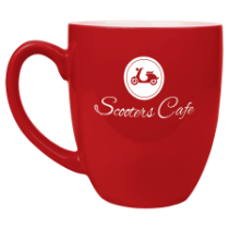 16 oz. Red Ceramic Bistro Mug