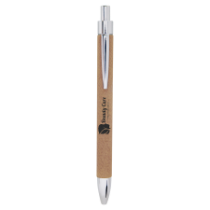 Light Brown Leatherette Ballpoint Pen