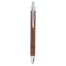 Dark Brown Leatherette Ballpoint Pen