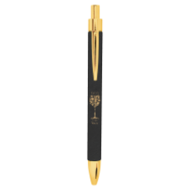 Black & Gold Leatherette Ballpoint Pen