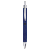 Blue Leatherette Ballpoint Pen