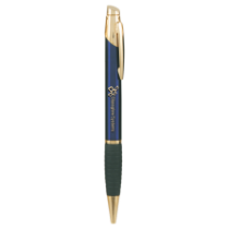 Blue & Gold Ballpoint Pen with Rubber Gripper