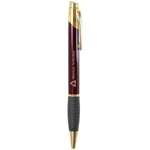 Glossy Burgundy Pen with Gripper