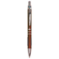 Gloss Burgundy Ballpoint Pen with Rubber Grippers
