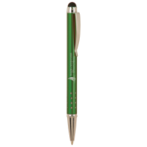 Gloss Green Ballpoint Pen with Stylus