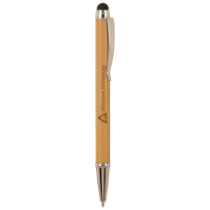 Bamboo Ballpoint Pen with Stylus