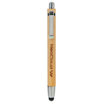 Bamboo Ballpoint Pen with Stylus Tip