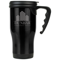 16 oz. Gloss Black Travel Mug with Handle