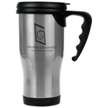 16 oz. Gloss Silver Travel Mug with Handle