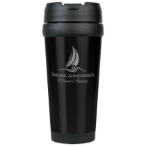 16 oz. Gloss Black Travel Mug
