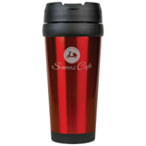 16 oz. Gloss Red Travel Mug