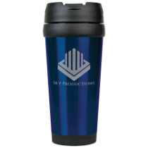 16 oz. Gloss Blue Travel Mug