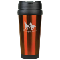 16 oz. Gloss Orange Travel Mug