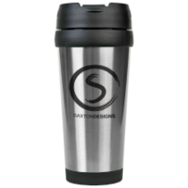 16 oz. Gloss Silver Travel Mug