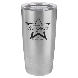 Stainless Steel 20 oz. Polar Camel Ringneck Tumbler with Clear Lid