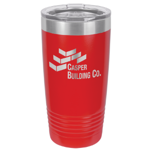 Red 20 oz. Polar Camel Ringneck Tumbler with Clear Lid
