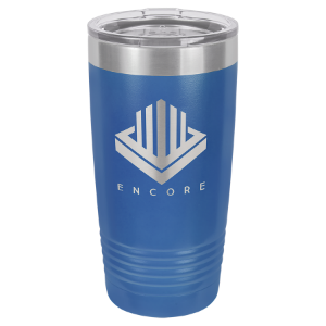 Royal Blue 20 oz. Polar Camel Ringneck Tumbler with Clear Lid