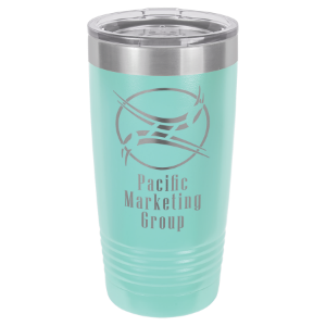Teal 20 oz. Polar Camel Ringneck Tumbler with Clear Lid