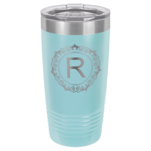 Light Blue 20 oz. Polar Camel Ringneck Tumbler with Clear Lid