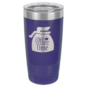20 oz. Purple Polar Camel Insulated Ringneck Tumbler with Clear Lid