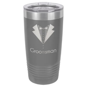 Dark Gray 20 oz. Polar Camel Ringneck Tumbler with Clear Lid