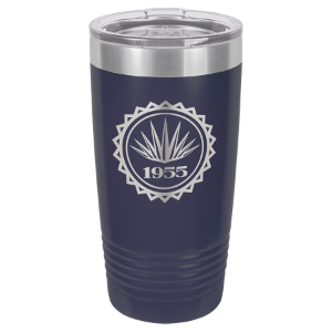 Navy Blue 20 oz. Polar Camel Ringneck Tumbler with Clear Lid