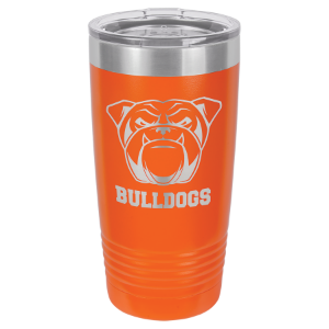 20 oz. Orange Polar Camel Insulated Ringneck Tumbler with Clear Lid