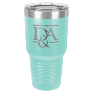 30 oz. Teal Polar Camel Ringneck Insulated Tumbler with Clear Lid