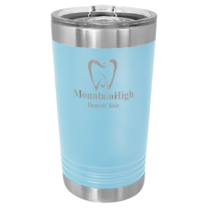 Light Blue 16 oz Polar Camel Pint Tumbler with Slider Lid