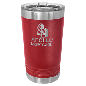 Maroon 16 oz Polar Camel Pint Tumbler with Slider Lid