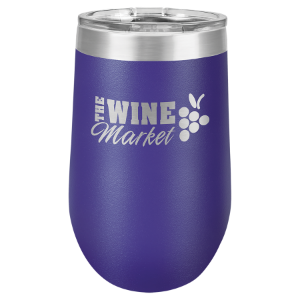 Purple 16 oz. Polar Camel Stemless Tumbler with Clear Lid