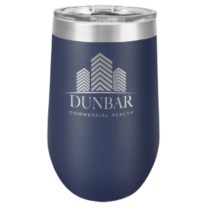 Navy Blue 16 oz. Polar Camel Stemless Tumbler with Clear Lid