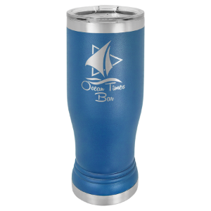 Royal Blue 14 oz. Polar Camel Pilsner Tumbler with Clear Lid