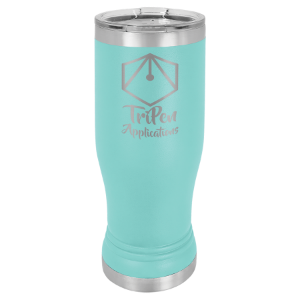 Teal 14 oz. Polar Camel Pilsner Tumbler with Clear Lid