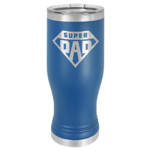 Royal Blue 20 oz. Polar Camel Pilsner Tumbler with Clear Lid