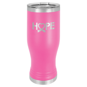 Pink 20 oz. Polar Camel Pilsner Tumbler with Clear Lid