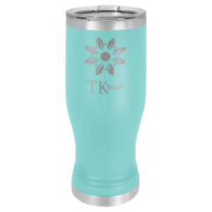 Teal 20 oz. Polar Camel Pilsner Tumbler with Clear Lid