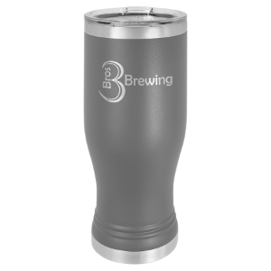 Dark Gray 20 oz. Polar Camel Pilsner Tumbler with Clear Lid