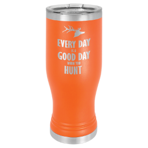 Orange 20 oz. Polar Camel Pilsner Tumbler with Clear Lid