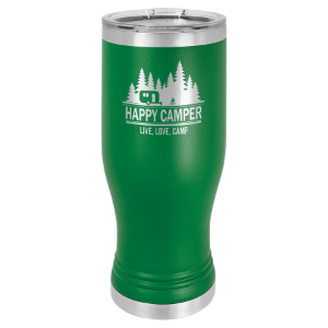 Green 20 oz. Polar Camel Pilsner Tumbler with Clear Lid