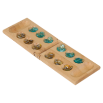 Wood Mancala Set with Marbles