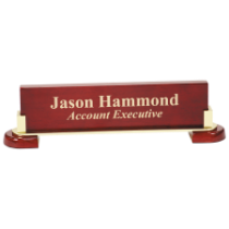 Rosewood Piano Finish & Gold Metal Name Bar