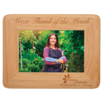 4 x 6 Round Corner Red Alder Photo Frame
