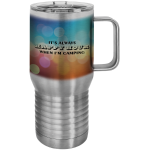 Stainless Steel Sublimatable Polar Camel 20 oz. Travel Mug w/Slider Lid