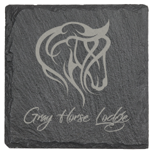 Square Slate Coaster with Foam Pads