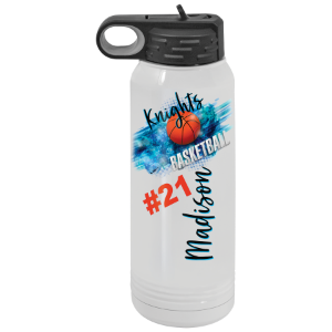 30 oz. Polar Camel White Full Color Water Bottle