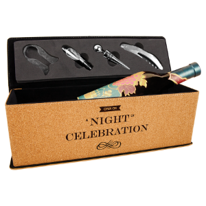Cork Single Wine Box with 4 Tools